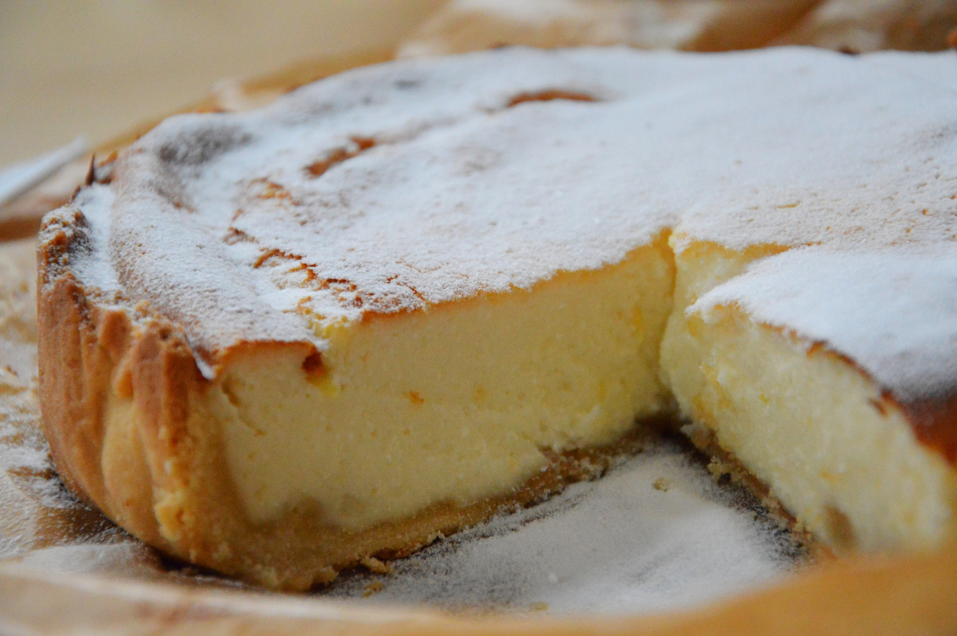 Cheesecake clasic pufos